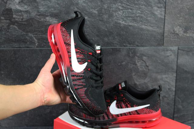 Мужские кроссовки Nike Air Max 2017 черные с красным (Реплика ААА+) ... 80b5c18dc347f