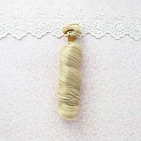 Волосы для кукол локоны в трессах, пепельный темный блонд  - 15 см