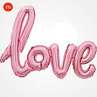 Modarina фольгированный шар-надпись love розовый 108*64 см, фото 1