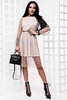 Платье французская сетка,усыпанная бусинами.Премиум класс.