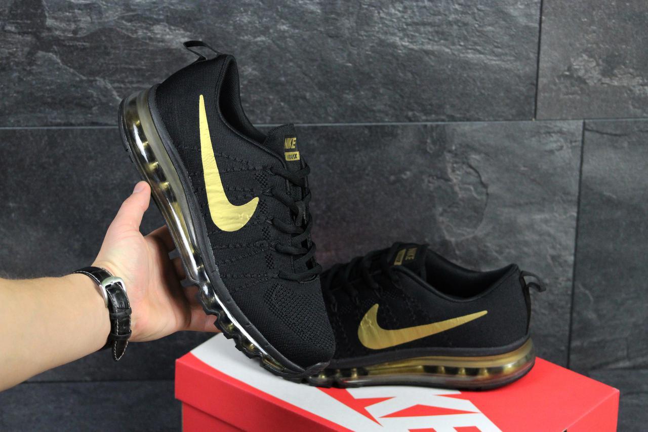 Мужские кроссовки Nike Air Max 2017 черные с золотом (реплика ААА+) - bonny e278d8d3fc77f