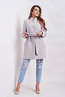 Молодежное женское пальто на весну с поясом