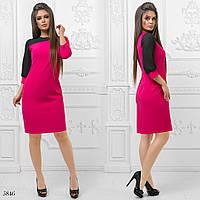 Платье двух-цветное плательный креп 42,44,46
