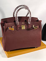 Елегантная женская сумка Гермес Биркин 35 см бордо (реплика), фото 1