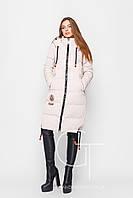Удлиненная зимняя куртка с капюшоном