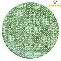 Тарелка без борта - 275 мм, Зеленая (Merxteam) Vesta