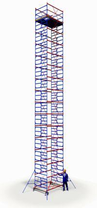 Вышка тура ПСРВ 2,0х2,0м комплект (14+1), рабочая высота 17,4м