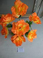 Искусственная роза 7 бутонов высота 43см