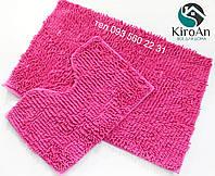 Набор ковриков в ванную комнату Лапша 60х90см Розовый, фото 1