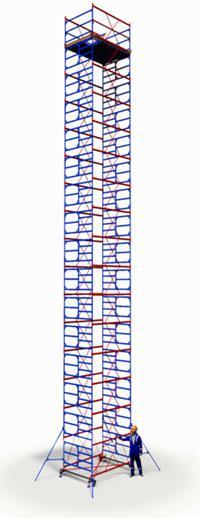 Вышка тура ПСРВ 2,0х2,0м комплект (15+1), рабочая высота 20,6м