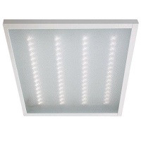 На этой светодиодной ЛЕД панели 600х600 Армстронг видно светящиеся точки светодиодов