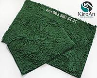 Набор ковриков в ванную комнату Лапша 60х90см Зелёный
