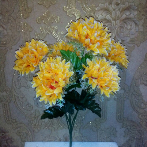 Искусственные цветы хризантема - шар