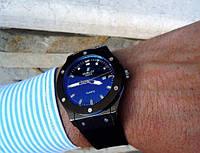 Кварцевые мужские часы Hublot черные черный, магазин мужских часов