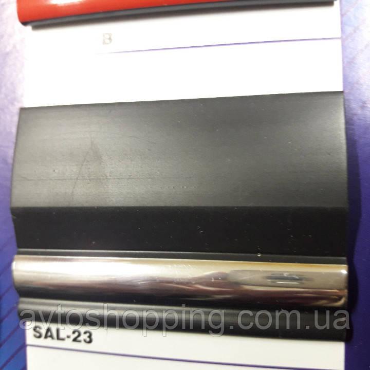 Декоративные Молдинги - Лента, 42 мм черный с Хром полосой. Для автомобиля