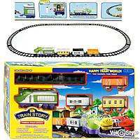 Железная дорога, паровоз ZY 3022 музыка, звуки паровоза, свет
