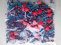 Посыпка сахарная сердечка микс (смесь №1)