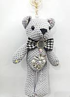Подарки брелки мишка серенький, брелки медвежата оптом 324