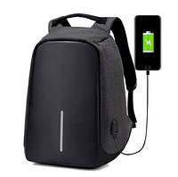 """Городской рюкзак Bobby антивор 15,6"""" с системой usb-зарядки xd design черный, фото 1"""