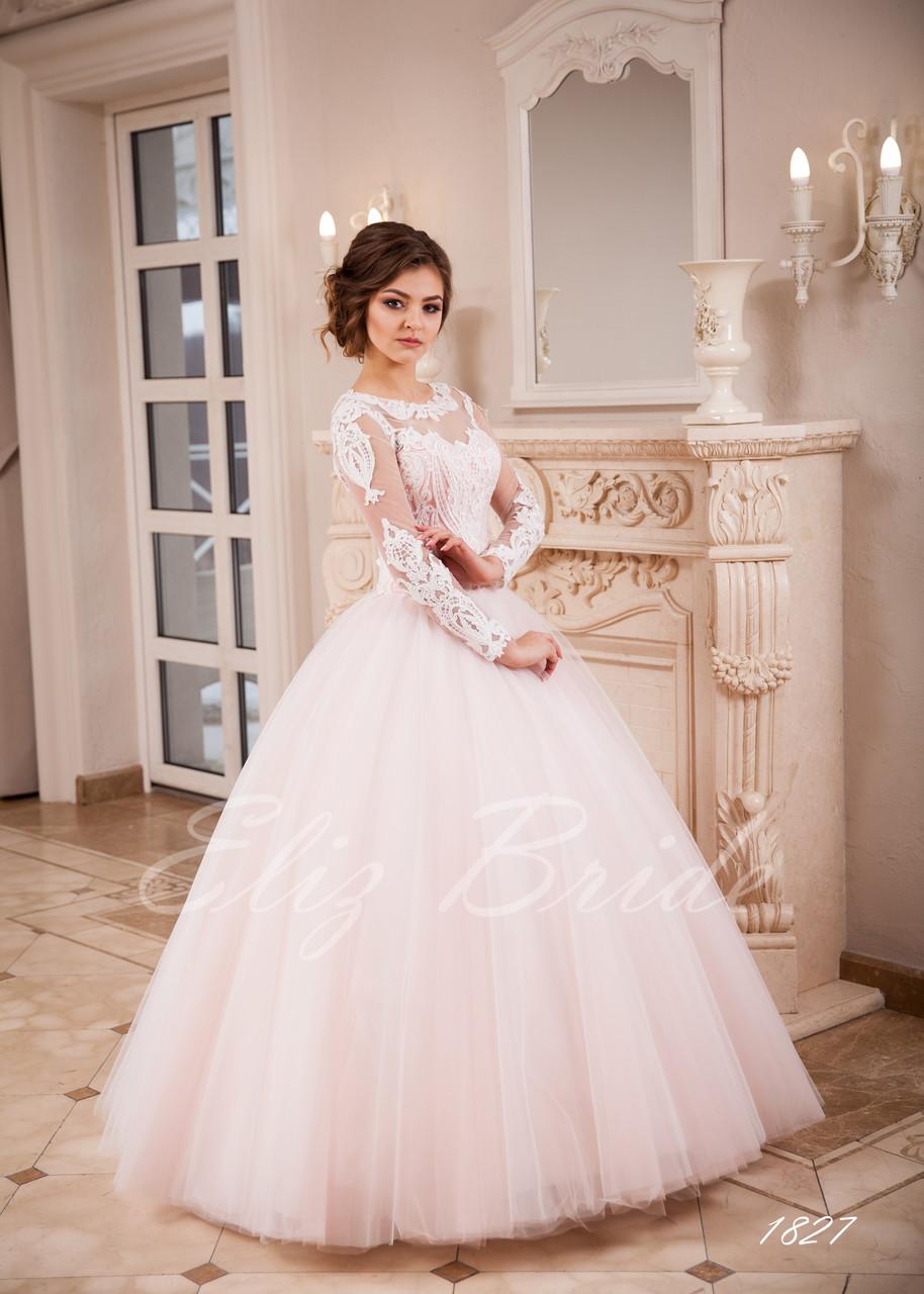 86ffa165703a5eb Свадебное платье 2018 . Пышная юбка , длинный рукав , цвет