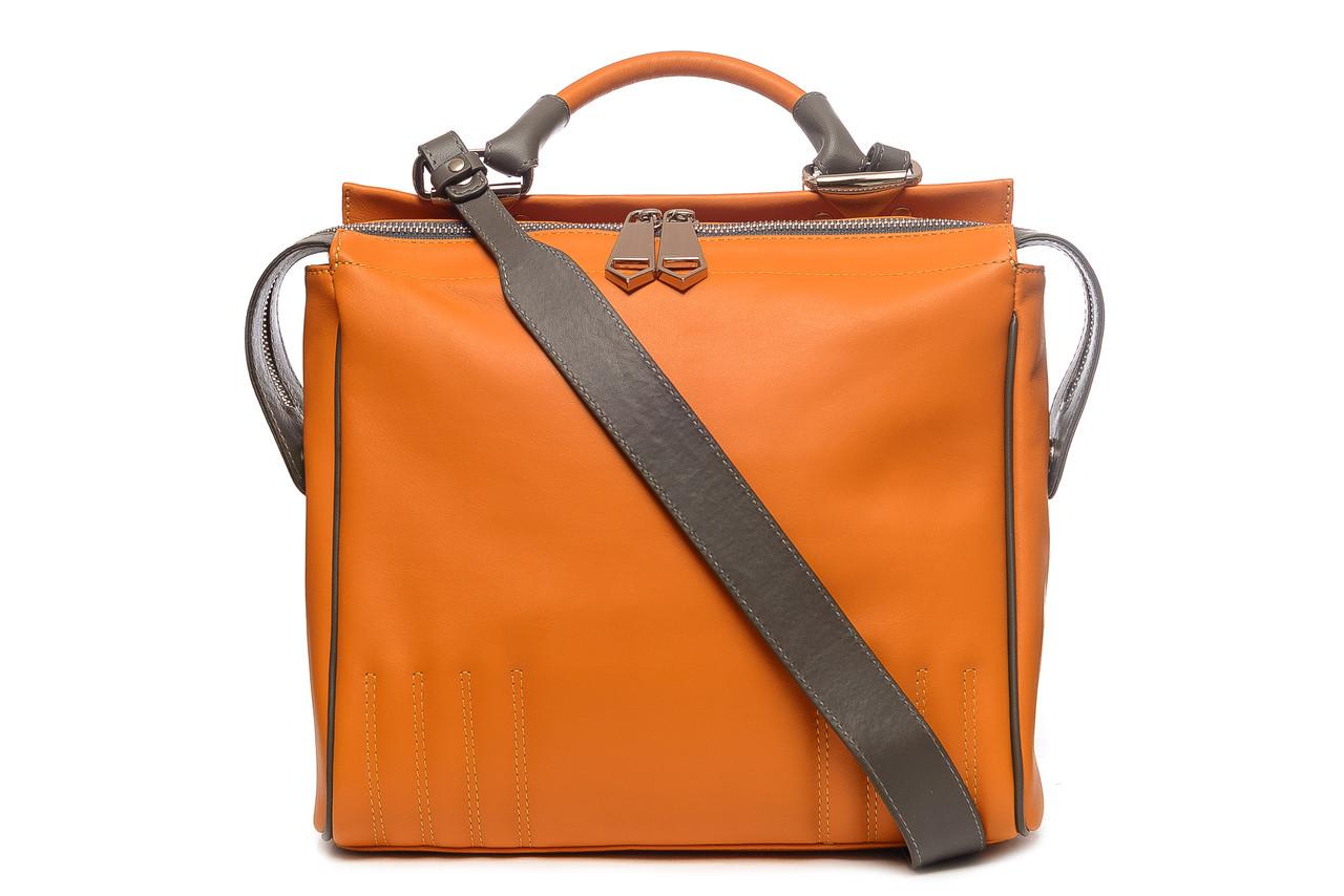 Модная женская кожаная сумка кросс-боди в стиле 80-х. Очень мягкая  итальянская a59089d802f1b