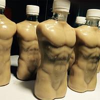 Бутылка для воды: торс с мускулами!