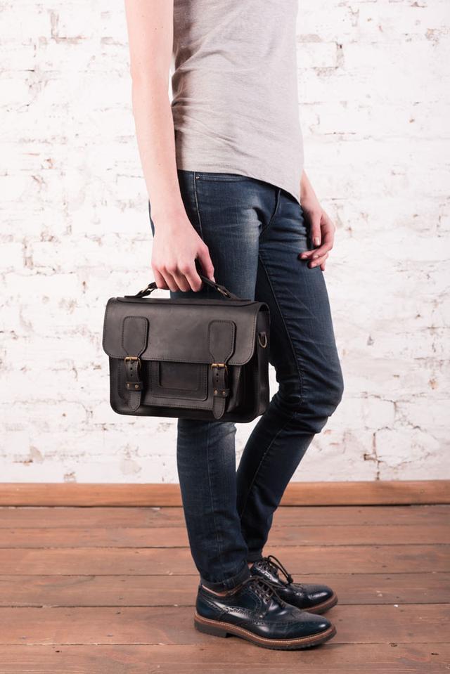 """Жіноча шкіряна сумка """"Seychelle"""" ручної роботи"""