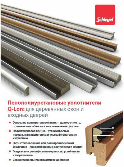 Уплотнители Schlegel для деревянных окон и дверей