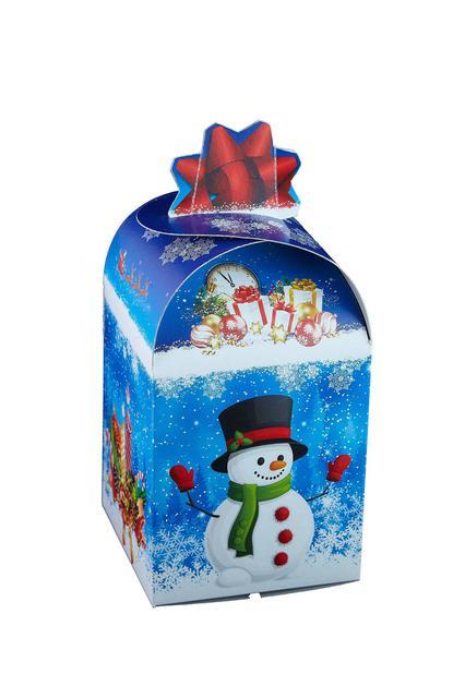 Новогодняя подарочная картонная упаковка для конфет