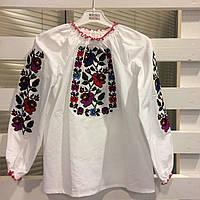 Вышитая блуза для девочки Мальва