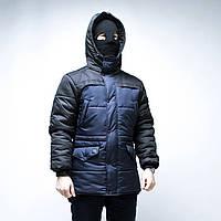 Зимняя мужская куртка ТУР Bizon темно-синяя, фото 1
