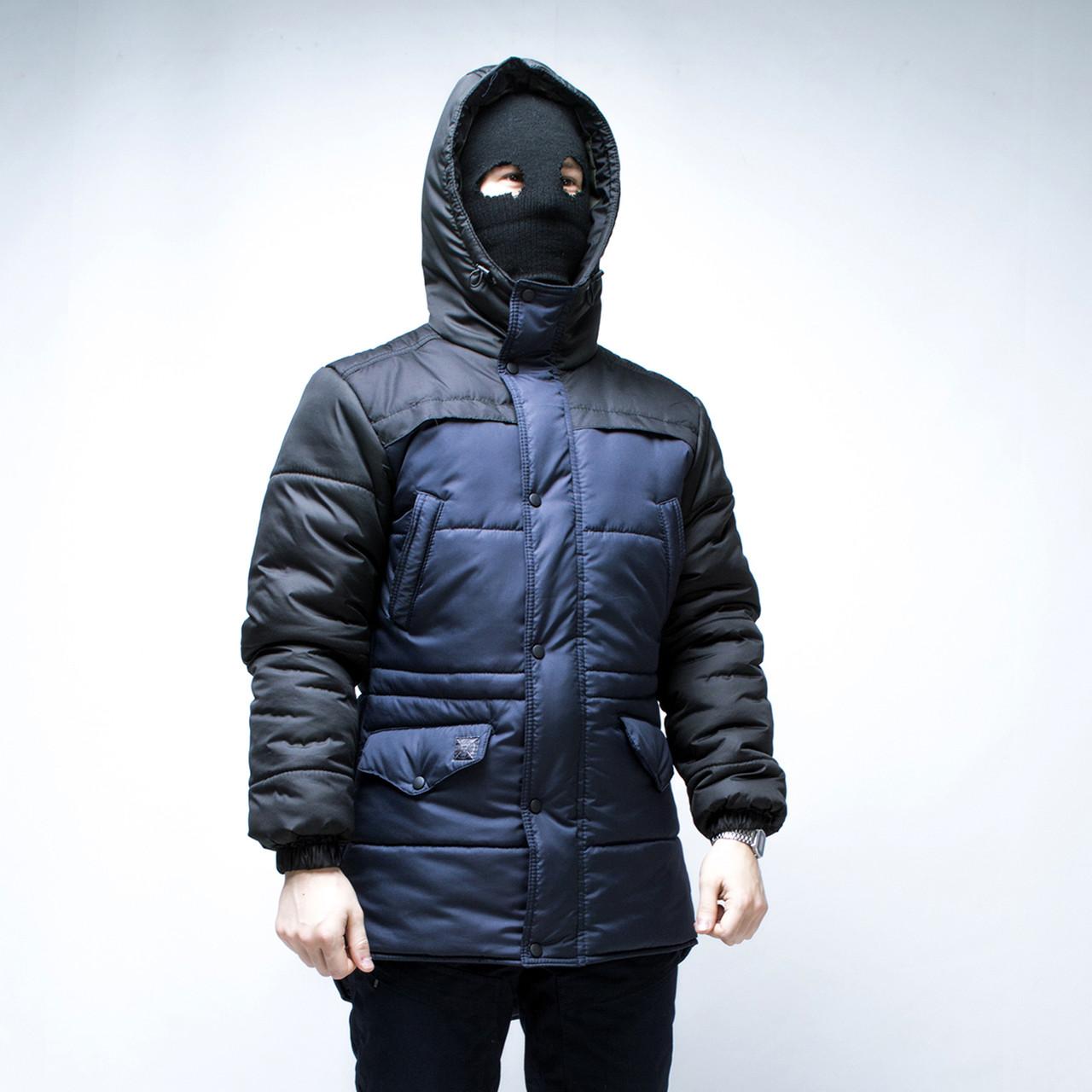Зимняя мужская куртка ТУР Bizon темно-синяя