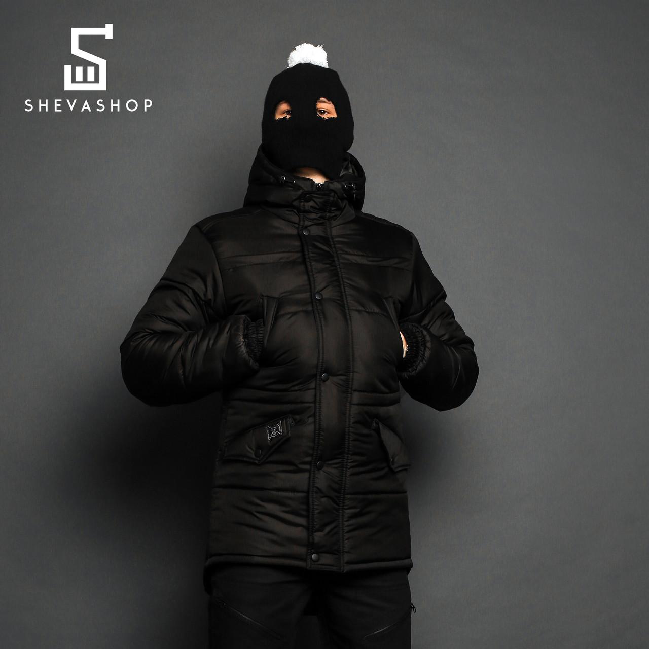 Зимняя мужская куртка ТУР Bizon черная, фото 1