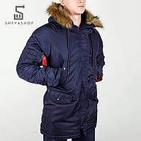Зимняя мужская куртка Chameleon, темно-синяя