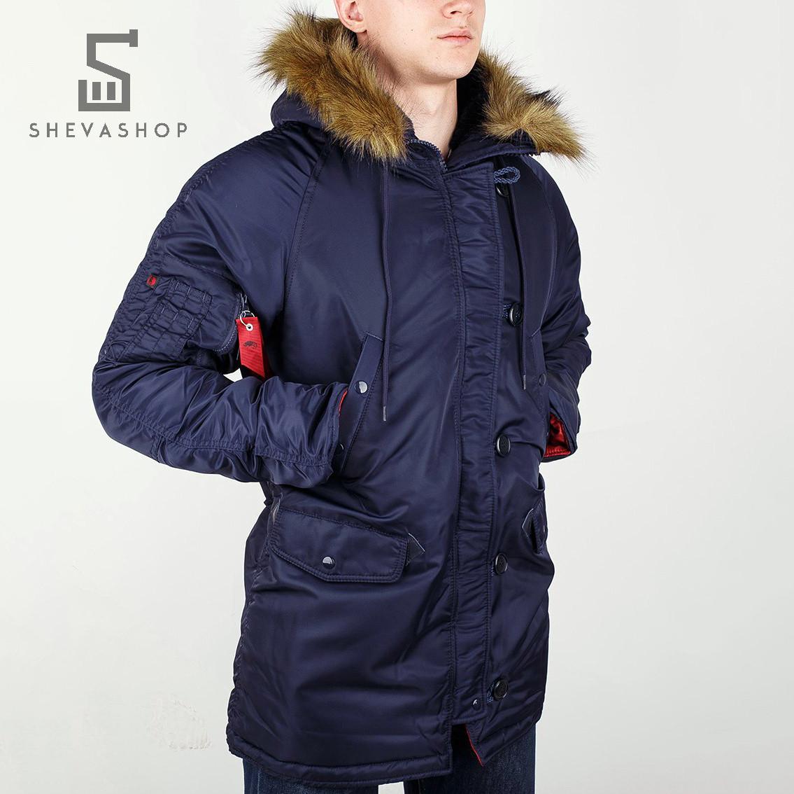 Зимняя мужская куртка Chameleon темно-синяя