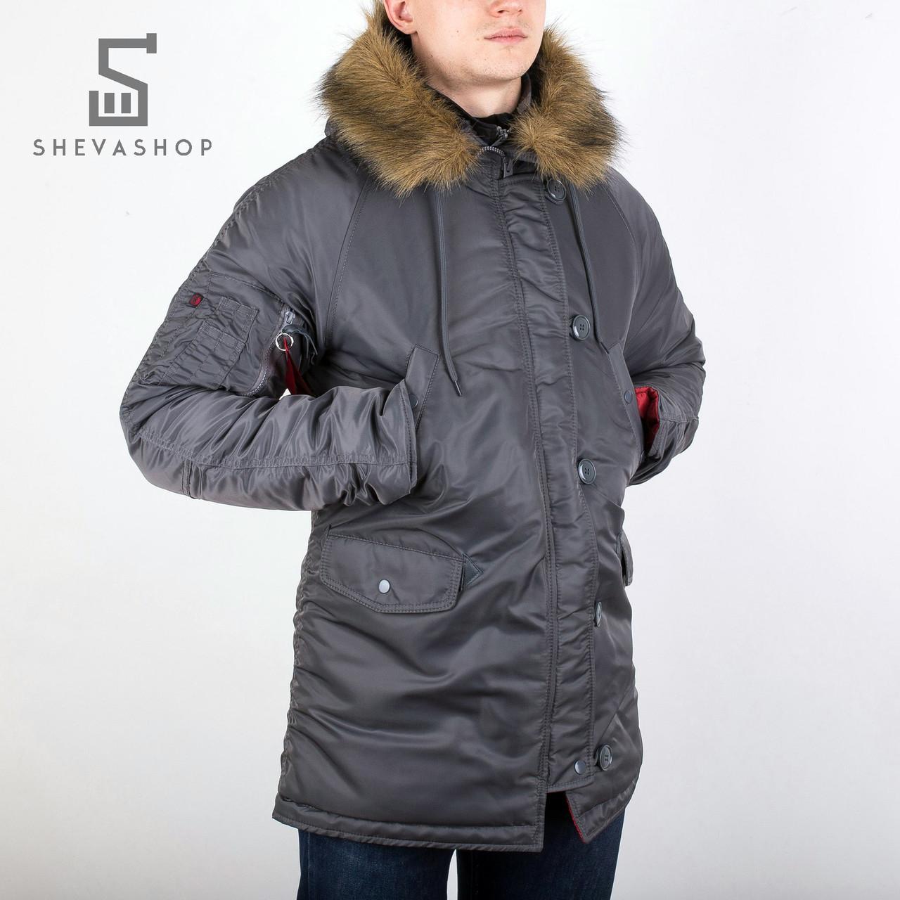 Зимняя мужская куртка Chameleon серая, фото 1
