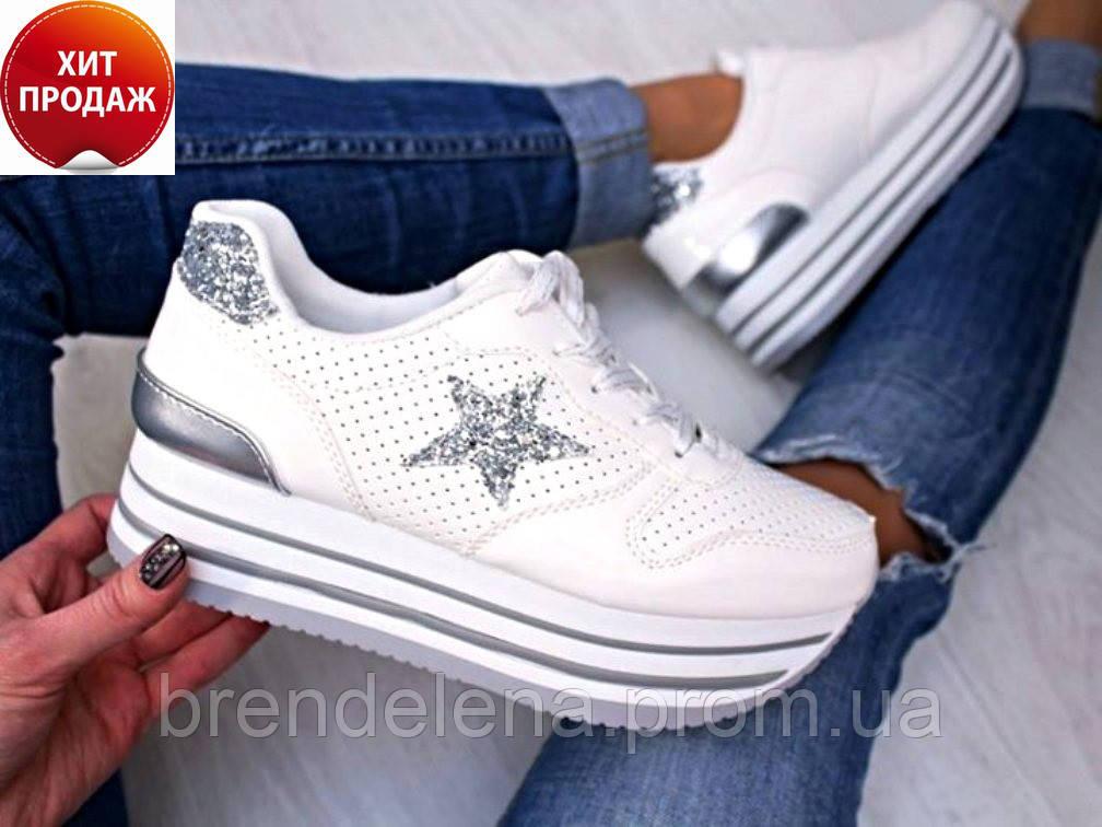 e710c01b2 Стильные женские белые кроссовки (р36-41): продажа, низкие цены ...