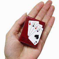 Мини колода игральных карт (54 шт.)! Размеры: 5.3 на 3.8 см.!