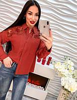 Супер классная женская блуза из креп-шифона