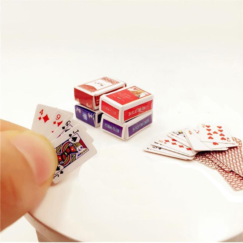 Мини карты 1:12, для игры или карточных домиков!