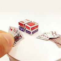 Мини карты 1:12, для игры или карточных домиков!, фото 1