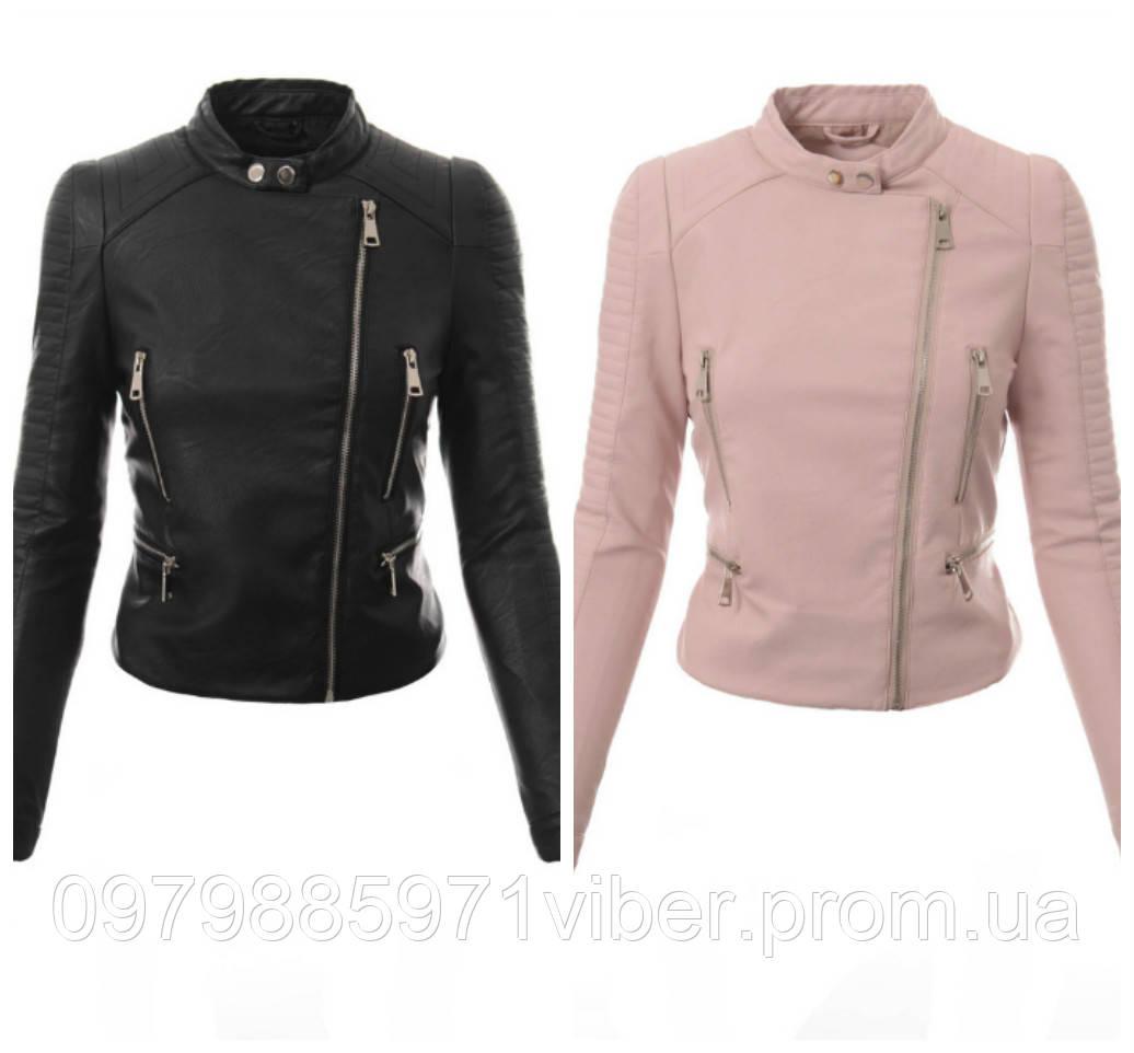 34943ac39e19 Женская пудровая и черная кожаная куртка - Доставка товаров из Польши в  Львове
