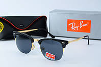 Солнцезащитные очки унисекс Ray Ban клабер 8056 золото черн