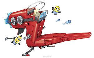 П, Конструктор Mega Bloks Minions Supervillain Jet Миньоны Самолет Суперзлодея