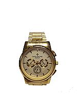 Мужские часы Patek Philippe кварцевые на браслете  Золотистый, Светлый