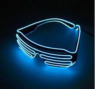Светодиодные Led El очки светящиеся очки для вечеринок, пати. Синие