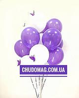 Подарочный букет воздушных шаров с бабочками большие шары 30 см любого цвета с бабочками летают более 3х дней