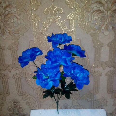 Искусственные цветы гортензия 6 голов