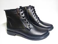 Весенние женские ботинки кожаные