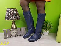 Сапоги резиновые черные и синие со съемной портупеей, фото 1